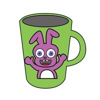 Mug with a bunny design