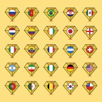 National flags on diamonds