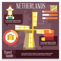 Netherlands travel infographic