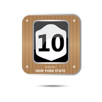 New york state route ten road sign