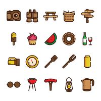 Outdoor activity icon set