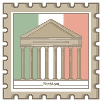 Pantheon postal stamp