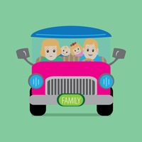 Parent with children in a car