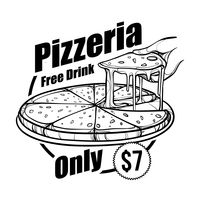 Pizza menu title with price