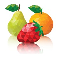 Polygon fruits wallpaper