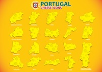 Portugal cheese icons