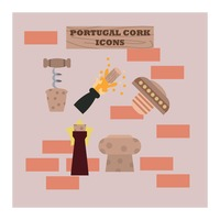 Portugal cork icons