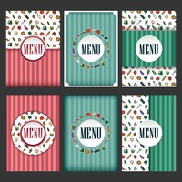 Restaurant menu design collection