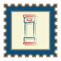 Royal mail post box postage stamp