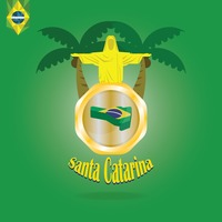 Santa catarina map wallpaper