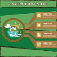 Save mother nature infographic