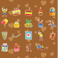 Seamless pattern of birthday