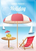 Seaside holiday poster