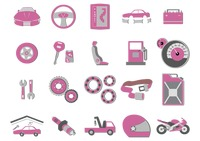 Set of automobile icons