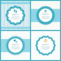 Set of baby shower labels