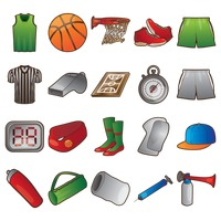 Set of basketball icons