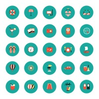 Set of beach icons