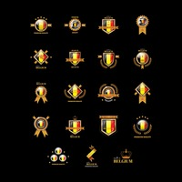 Set of belgium badges
