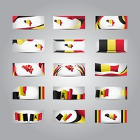 Set of belgium banners