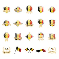 Set of belgium icons