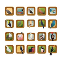 Set of bird icons