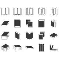 Set of books icon