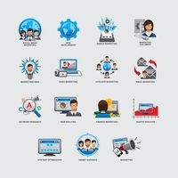 Set of business and strategy icons