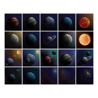 Set of celestial bodies