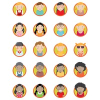 Set of character emoticons