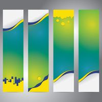 Set of colorful banners with abstract designs