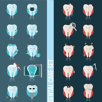 Set of dental care icons