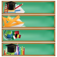 Set of education banners