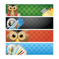 Set of educational banners