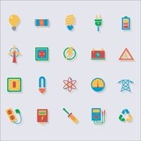 Set of electrical icons