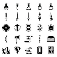 Set of fantasy icons