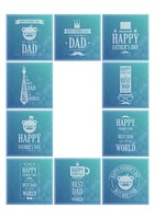 Set of father's day wallpapers