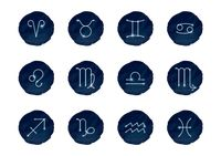 Set of horoscope icons