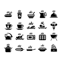 Set of hot icons