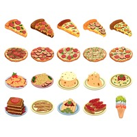 Set of italian food icons