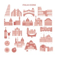 Set of italian icons
