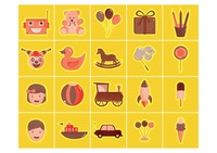 Set of kids icon