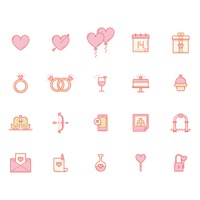 Set of lovely icons
