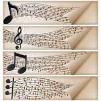 Set of music banner