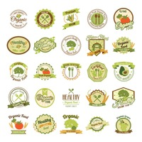 Set of organic labels