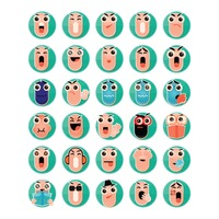 Set of pill emoticon icons