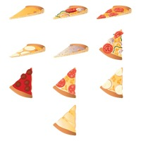 Set of pizza slices