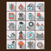 Set of power generating icons
