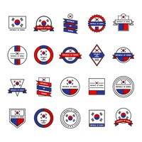 Set of republic of korea icons
