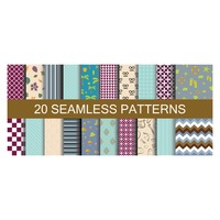 Set of seamless patterns backgrounds