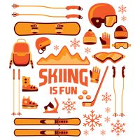 Set of ski equipment